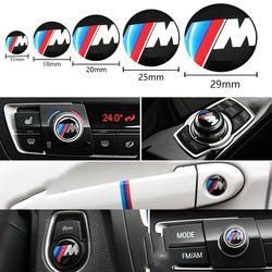 1 pcs 11 18 20 25 29mm Multimédia Audio Bouton De Commande étiquetés Autocollant De Voiture Emblème Auto Badge Sticker Pour BMW M Power Performance