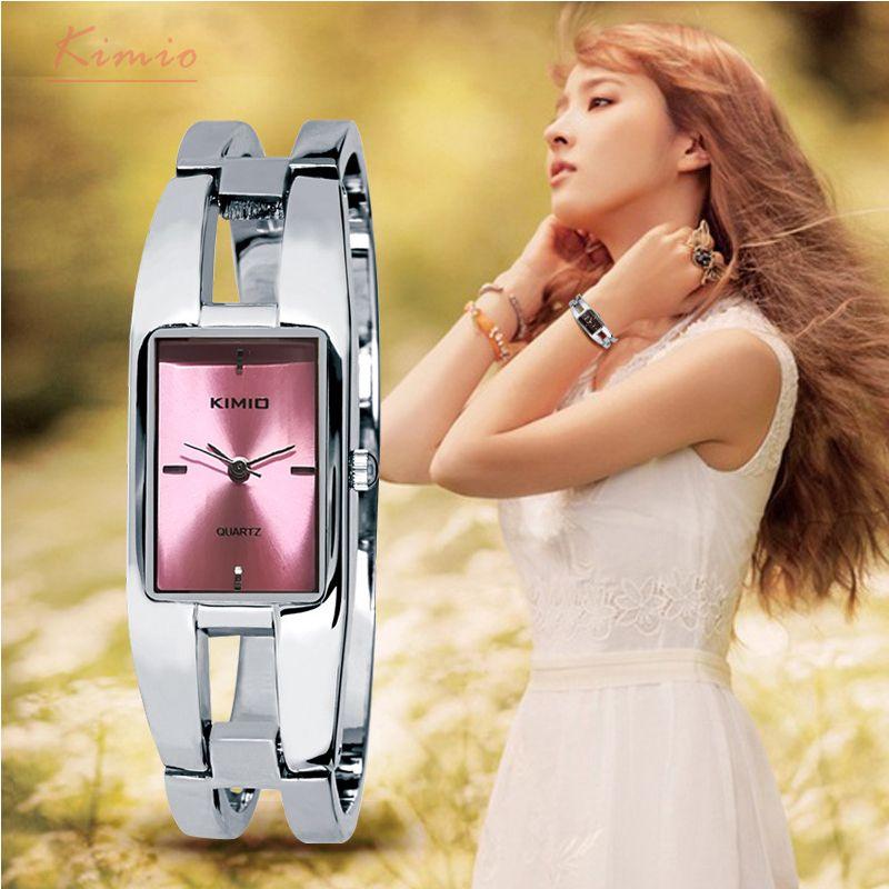 Kimio Brand Women's Bracelet Watches Diamond Stainless Steel Dress Ladies Quartz Watch Femme Relogio Feminino Horloges Vrouwen