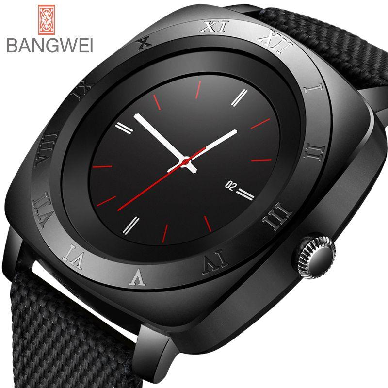 BANGWEI 2018 New Brand Smart watch Men Waterproof Military Sport Digital watch Men's Casual Nylon Smart Clock Relogio Masculino