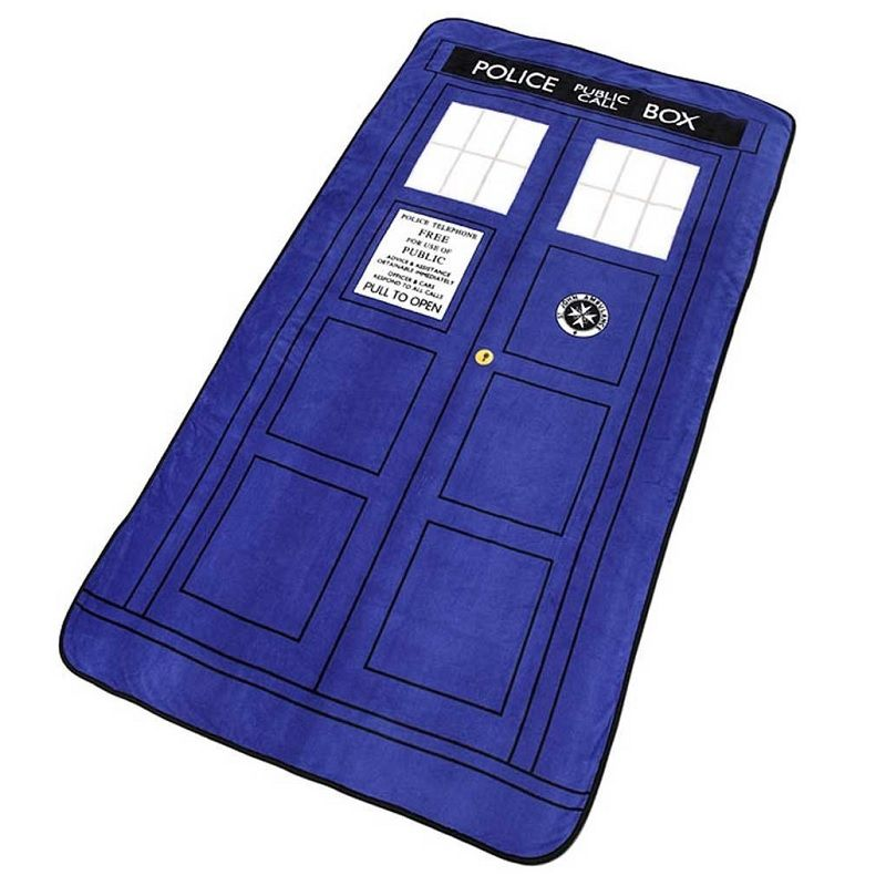 127*226cm Doctor Who Cosplay Blankets Tardis Coral Fleece Cosplay Carpet Police Box Blanket Blue Bed Sheet