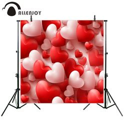 Allenjoy new arrivals photo backdrop Glass texture with Happy valentine day Blur background Photographic background for couple