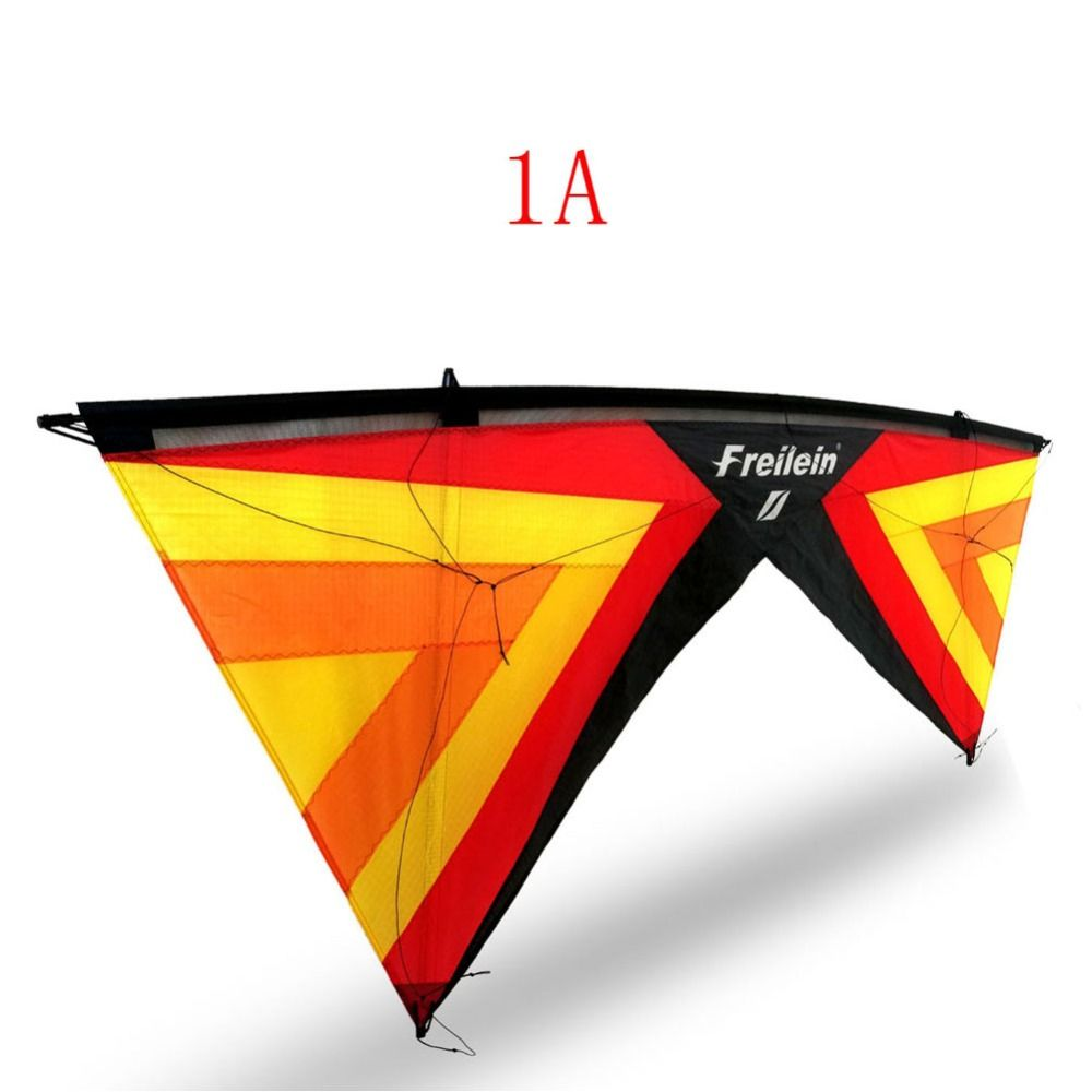 Outdoor Quad Line Stunt Kite Beach Power Sport Kite 4 Lines With Handles Flying Line For Players Shows 16 Colors