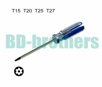T15 T20 T25 T27 With Hole Torx Screwdriver Key PVC Colorized Bar Handle Screwdrivers Repair Tool Wholesale 180pcs/lot