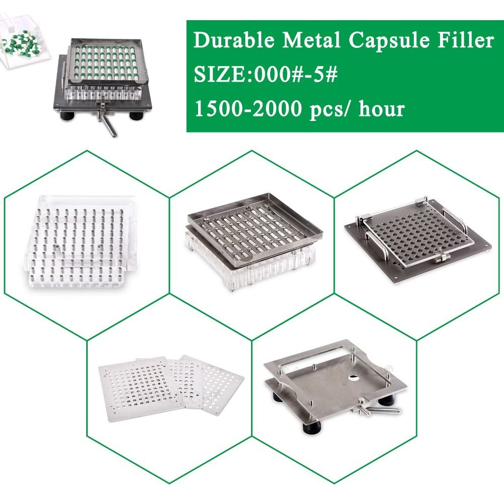 Beste qualität 304 edelstahl Halbautomatische kapsel maker, einfach bedienen leere kapsel füllung kit größe 000-5