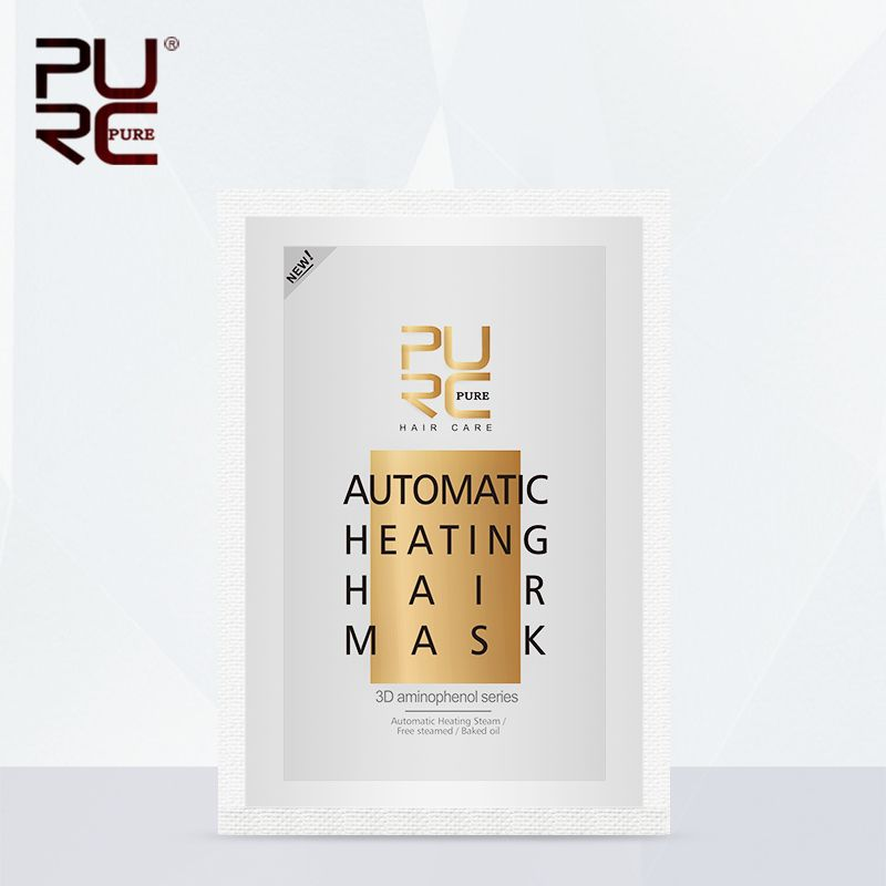 PURC Professional 50g Automatic Heating Steam Hair Mask Keratin Argan Oil Treatment Hair Coarse / Dry /Split Hair Care