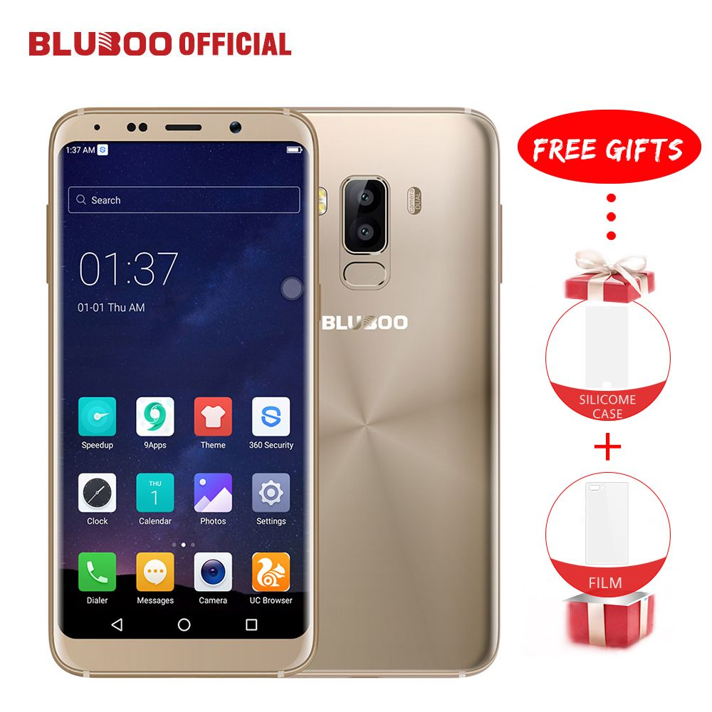 BLUBOO S8 5.7'' 18:9 HD Screen Mobile Phone Android 7.0 3GB RAM 32GB ROM MTK6750 Octa Core <font><b>13MP</b></font>+5MP Fingerprint 4G Smartphone