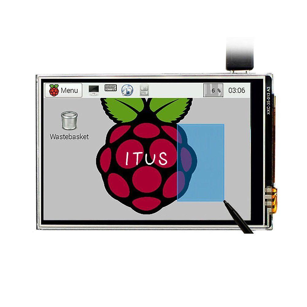 Livraison gratuite 3.5 écran tactile LCD TFT écran tactile + stylet pour Raspberry Pi 3 B +/Raspberry PI 3 modèle B Kit de carte