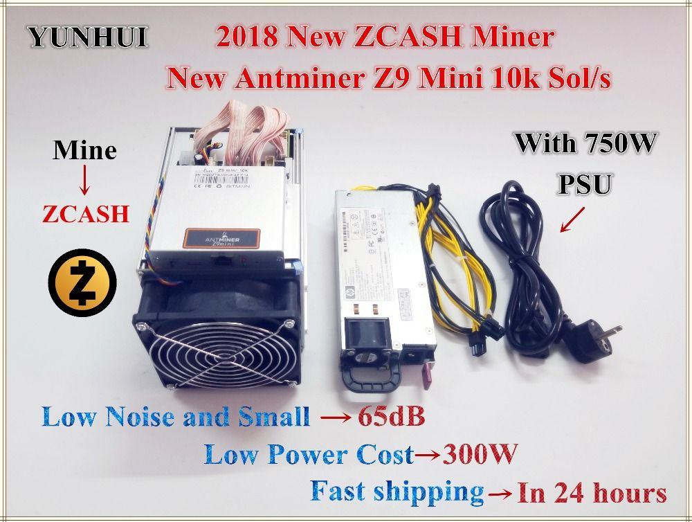 Ship in 24 hours New ZCASH Miner Antminer Z9 Mini 10k Sol/s With 750W PSU Equihash Miner Mining ZEN ZEC BTG,Innosilicon A9
