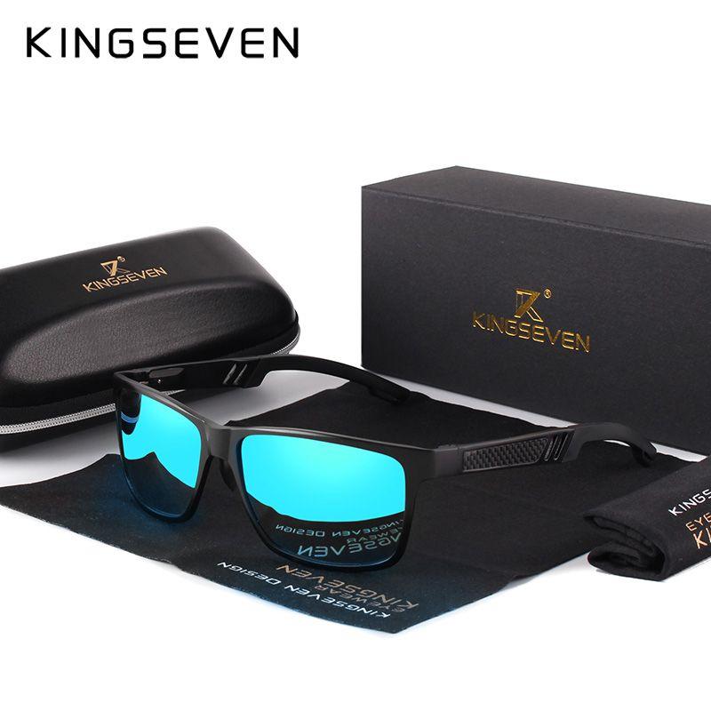 KINGSEVEN 2019 carré en aluminium hommes/femmes revêtement polarisé miroir lunettes de soleil lunettes de soleil lunettes de soleil pour hommes