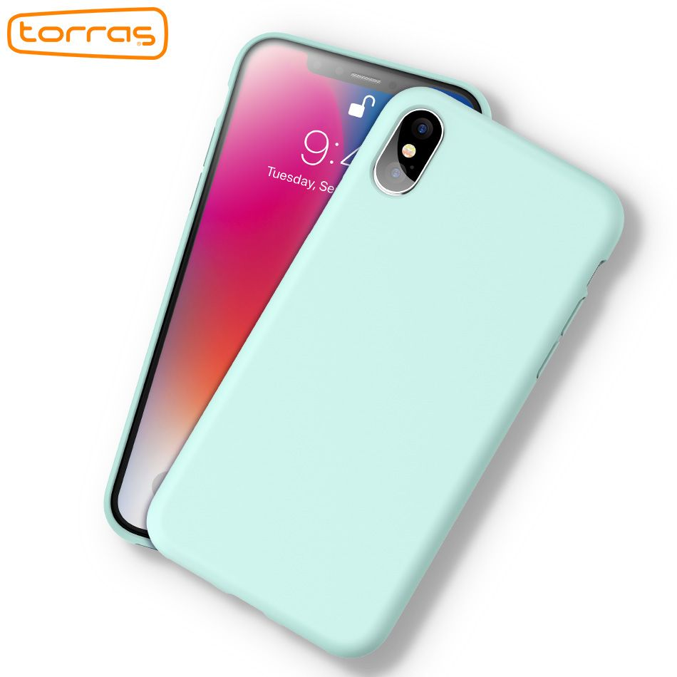 TORRAS Original Liquid Silicone Phone Case for iPhone x Rubber Phone Cover Microfiber Full Protective Phone Case for iPhone X
