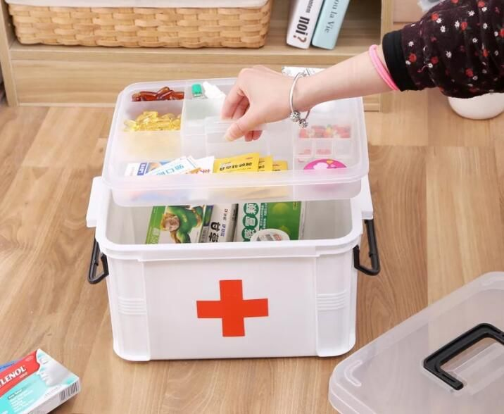 XSB41-XSB60  3M Portable Multi-Layers First-Aid Kit Medicine Receipts Household Medicine Kit
