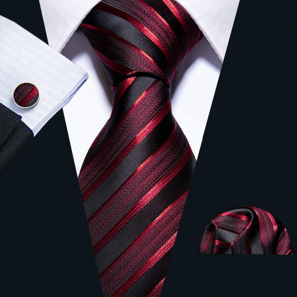 New Wedding Men Tie Red Striped Fashion Designer Ties For Men Business 8.5cm Dropshiiping Barry.Wang Groom Tie Kravat FA-5022