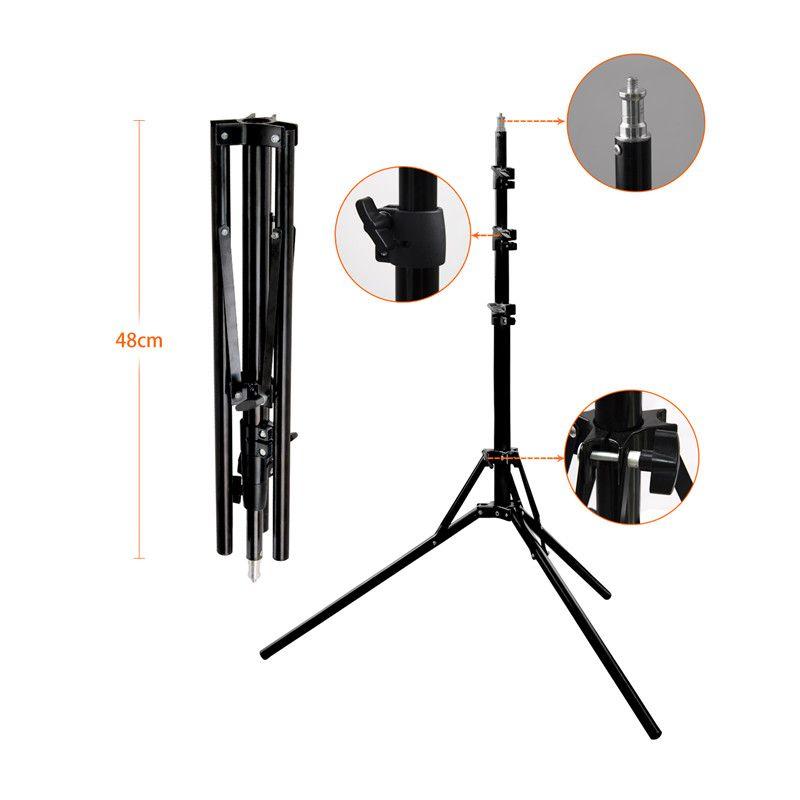 fosoto 1/4 Screw Head Light Stand Tripod Photo Studio Accessories For Ring Light & Softbox Photo Video Lighting Flashgun Lamps