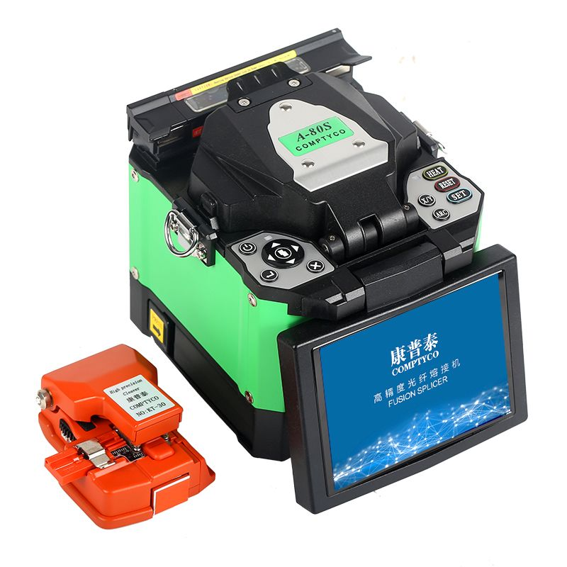 COMPTYCO A-80S FTTH Fiber Optic Schweißen Spleißen Maschine Optical Fiber Fusion Splicer
