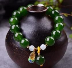 Naturel et tian jade jasper blanc bracelet de jade hommes et femmes.