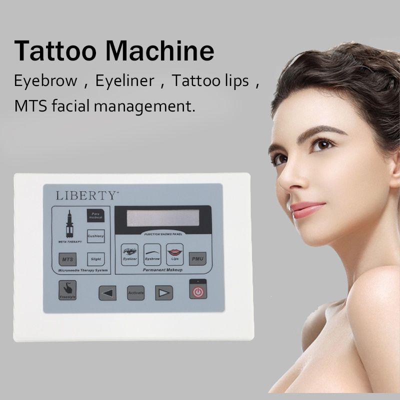 Original Liberty dermographe maquillage Permanent Makeup Digital Tattoo Machine with foot switch tattoo kit tattoo needle pen