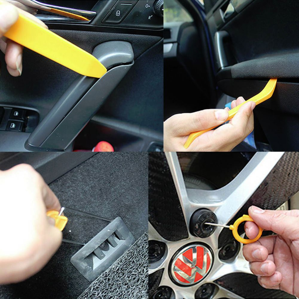 1 satz 12 stücke Auto Autoradio-clip Türverkleidungen Dash Audio Removal Hebel-werkzeug-set Kunststoff