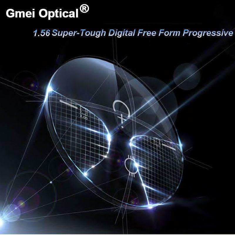 1.56 Super-Tough Digital Free Form Progressive No-Line Multi-Focal Prescription Customized Optical Lenses With AR Coating 2 Pcs