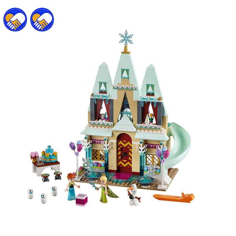 Un jouet Un rêve SY371 519 pièces Elsa Anna Arendelle Château Célébration Modèle Kits de Construction Bloc Briques Avec Légèreté jouet 41068