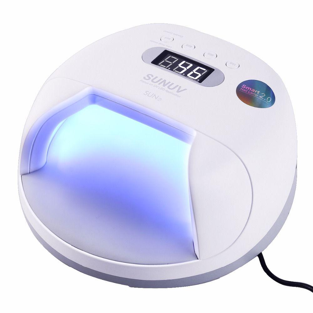 SUN7 Power Lagerung Nagel Lampe 48 watt UV LED Doppel Lichtquelle Nagel Trockner Maschine mit Smart-Timer Speicher und sensor Mit Batterie
