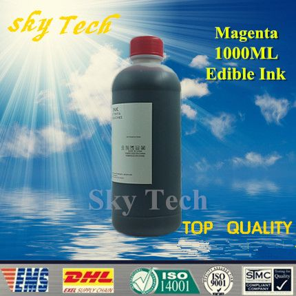 1000ML Magenta Edible ink suit for Epson & Canon etc printer , Magenta Food Ink , cake ink, candy paper ink
