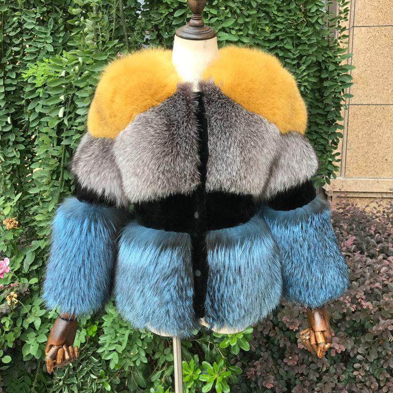 2018 neue Echt Silber Fuchs Pelz Mantel für Frauen Winter Natur Schafschur Voll Pelt Dicke Warme Mantel Luxus Silber fuchs Pelz Jacke