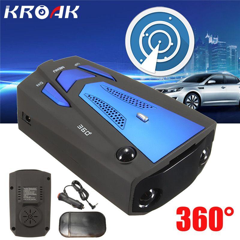 Car Radar Detector Flow Velocity K Ku Ka Laser V7 Blue Color Led Display Russian/English Car Detector Testing System Voice Alert