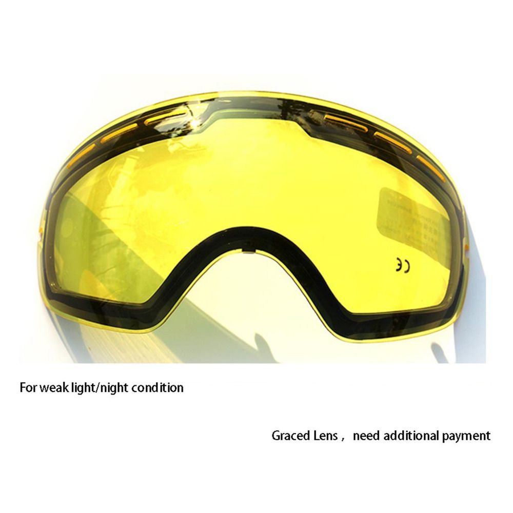 COPOZZ Double Brightening Lens Ski Goggles Night Of Model Number GOG-201 For Weak Light Tint Weather Ction With Other Glasses
