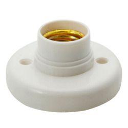 1pcs E27 lamp holder, Round Lamp Bulb Socket Bases White lamp holder, flame retardant PBT, free shipping