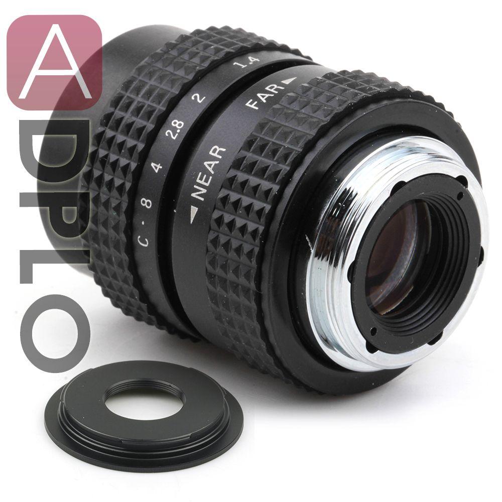 25mm f1.4 CCTV C mount Objektiv + C zu Micro M4/3 NEX/N1/Pentax Q /Fuji/EF M M2 Adapter Anzug Für Pentax Kamera + Objektiv Kappe