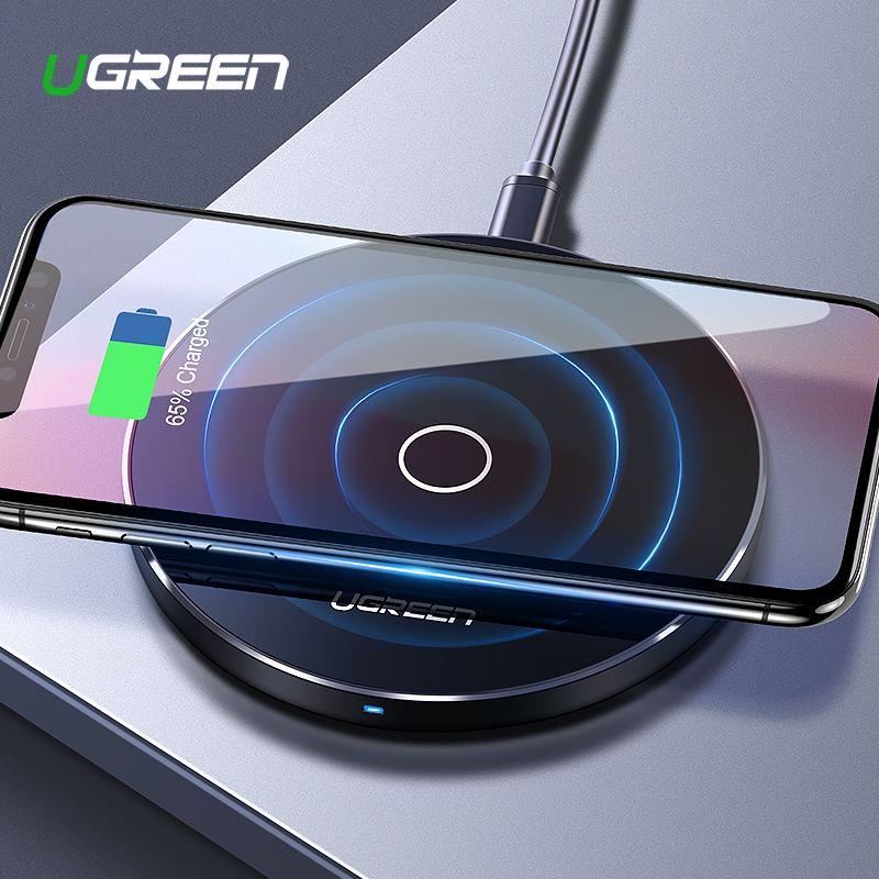 [Ци Беспроводное Зарядное Устройство 10 Вт], Ugreen Оригинал Беспроводное Зарядное Устройство Зарядки Pad для Samsung Galaxy S6 S7 Edge Google Nexus 4/5 Lumia 920