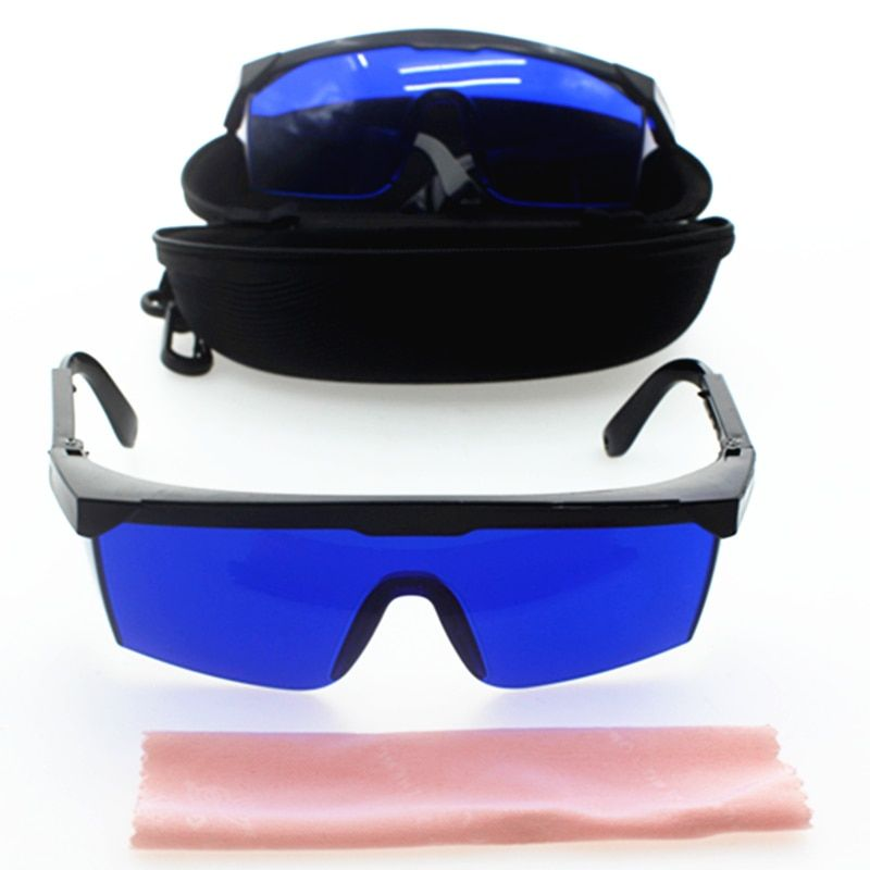 Safety glasses for IPL beauty,golf finding glasses,Golf Ball Finder Glasses Eye Protection,blue lens ship with case clean cloth