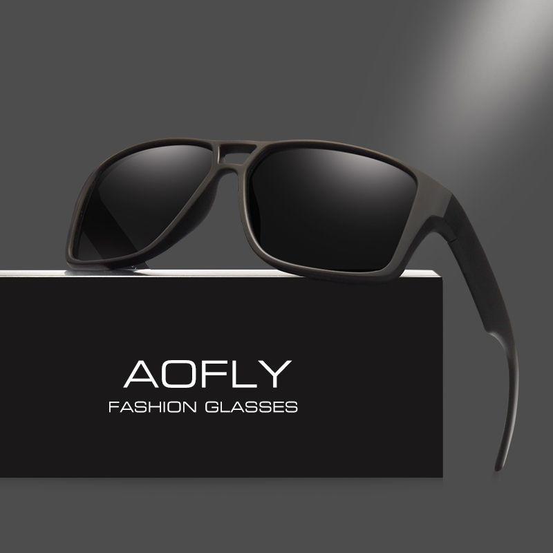 AOFLY Polarisées lunettes de Soleil Hommes Cool Vintage Brand Design Homme lunettes de Soleil Polaroid lentilles Lunettes Shades Oculos Masculino AF8030