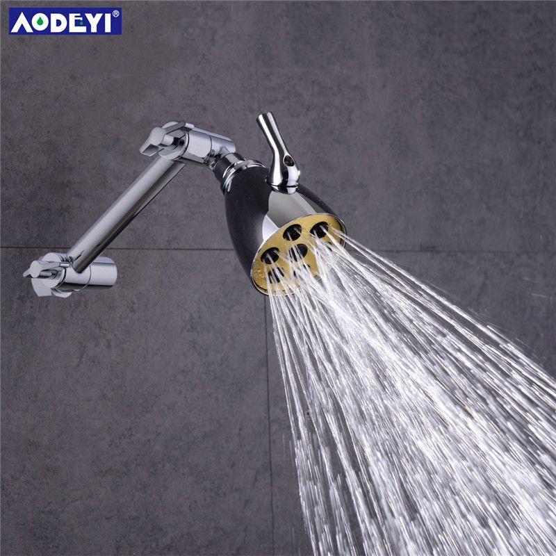 Tête de douche de pluie en laiton 3 Modes sauvant le Jet de corps de pluie d'eau ajustant le bras de douche