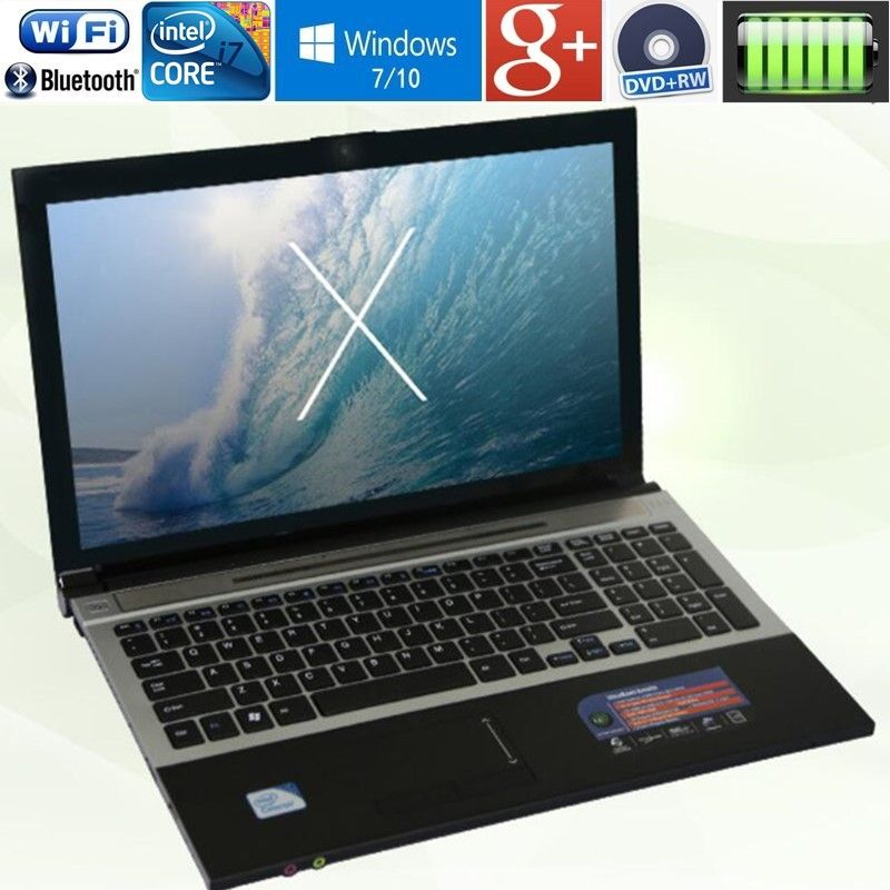 4 GB RAM + 500 GB HDD 15,6 Intel Core i7 Laptop Notebook PC Große Notebook PC DVD Metall fall AZERTY Italienisch Spanisch Russische Tastatur