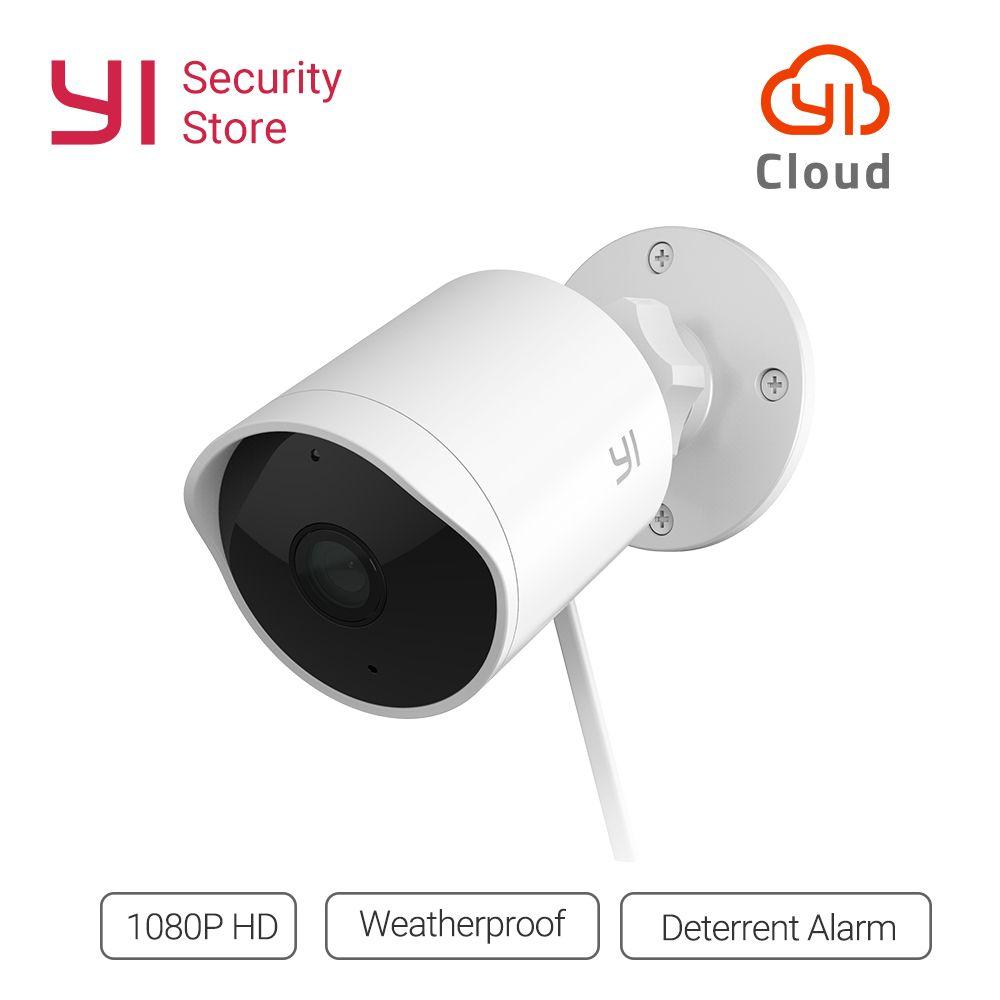 YI caméra de sécurité extérieure 1080 P étanche Vision nocturne sans fil résolution IP système de Surveillance de caméra de sécurité nuage Global