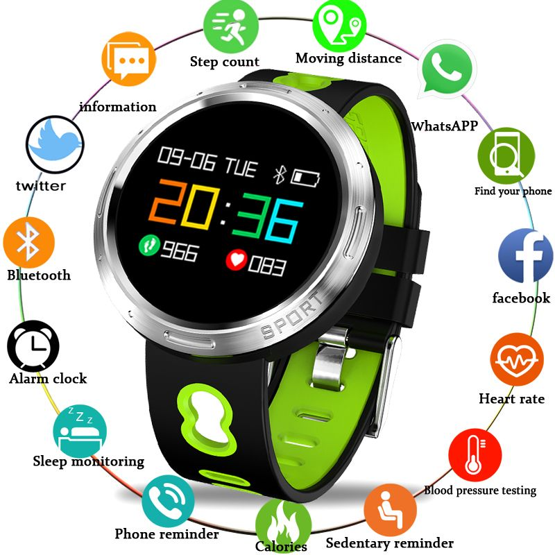 BANGWEI Smart watch IP67 waterproof Activity Fitness tracker Heart rate blood pressure monitor Sport Men women smartwatch +box