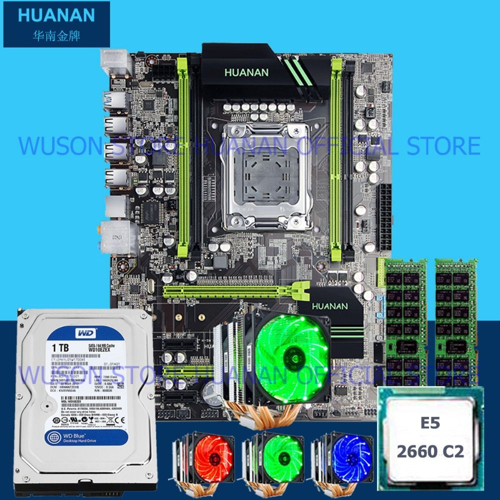 Hot HUANAN X79 motherboard CPU Xeon E5 2660 SROKK with 6 heatpipes cooler RAM 16G(2*8G) DDR3 RECC 1TB 3.5' SATA HDD all tested