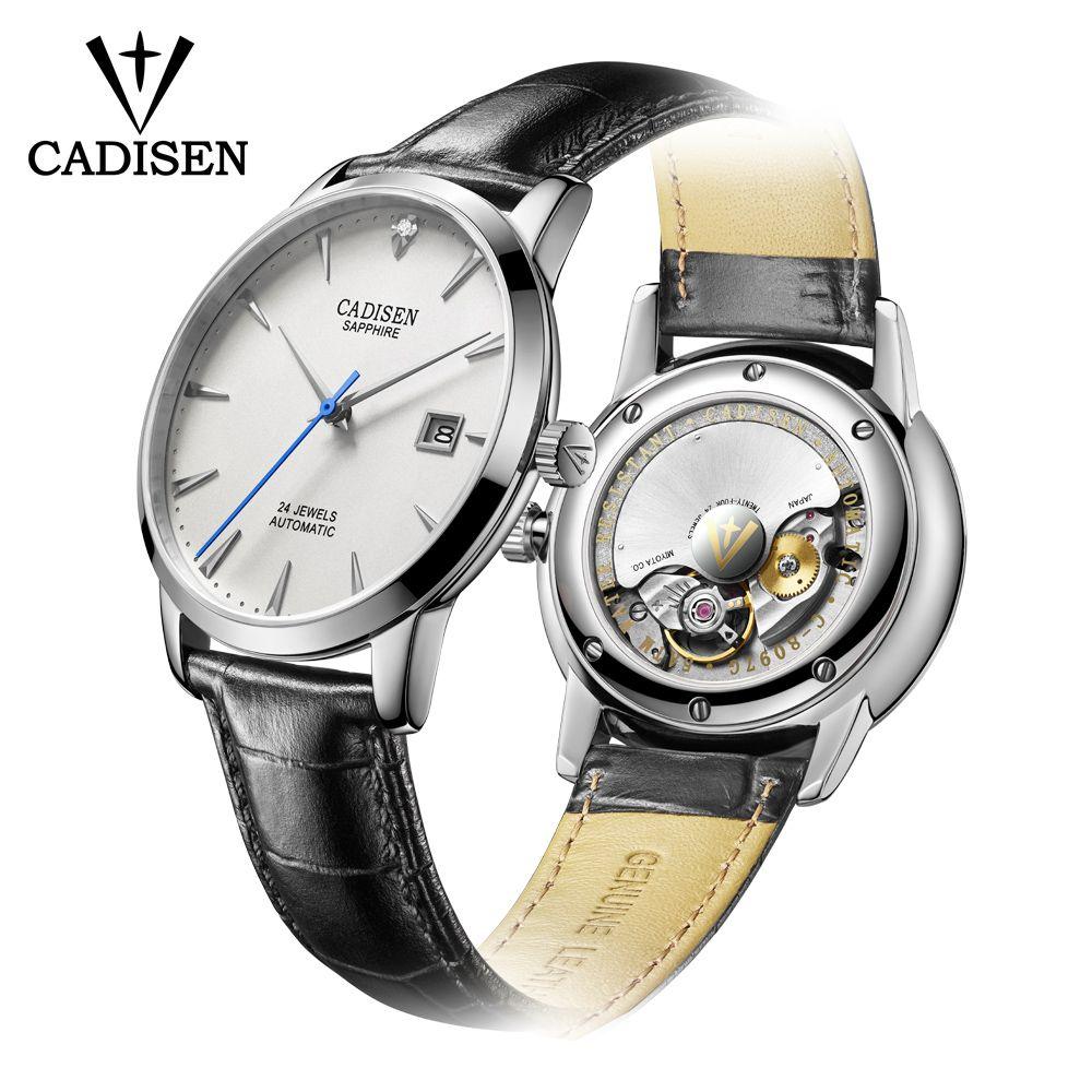 CADISEN Männer Uhr 2018 Heißer Handgelenk Marke Luxus Berühmten Männlichen Uhr Automatische Uhr Echt diamanten Uhr Relogio Masculino