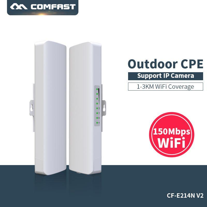 COMFAST Extérieure CPE Routeur WIFI 150 Mbps Sans Fil Point D'accès Routeurs Avec POE 14dBi Antenne Nanostation Sans Fil WIFI Pont
