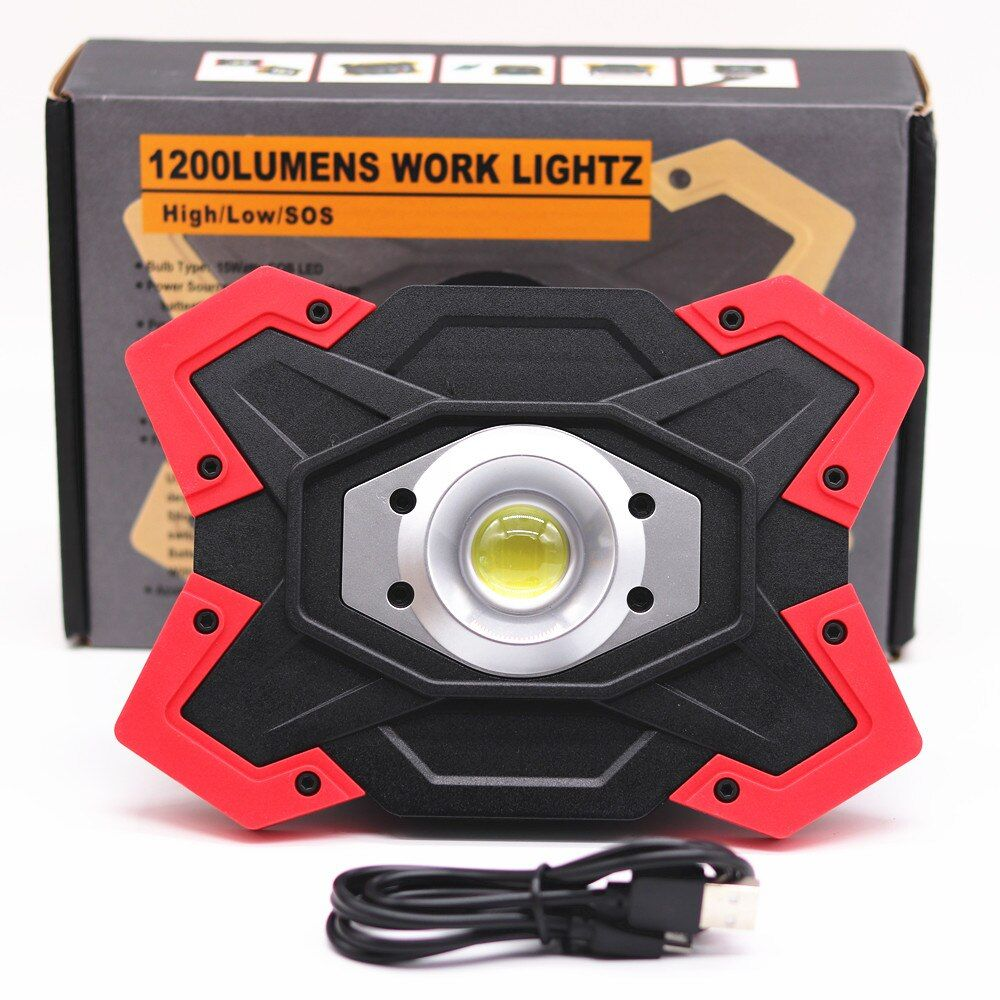 ZPAA Portable LED COB Work Lamp Light for Camping,Hiking,Car Repairing,Workshop Builtin Rechargeable Battery Waterproof Lantern