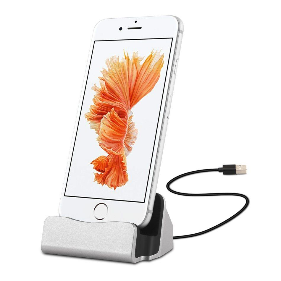 YeeSite 3 in 1 Function Charger Dock Station for iPhone 7 6s 6 Plus Desktop Charging Sync Stand Holder for iPhone 5s 5c 5 SE