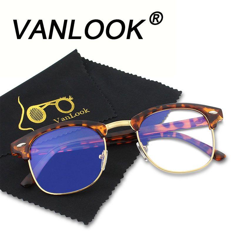 Computer Glasses Transparent For Women Men Spectacle Frame Anti Blueray Clear Fashion Eyeglasses Oversize Oculos de Grau