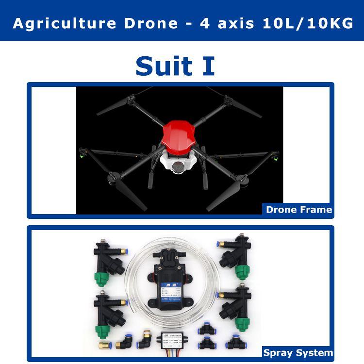 EFT E410 4 achse 1300mm Radstand wasserdicht landwirtschaftlichen spritzen drone flug plattform 10L/10 kg Folding Spray Quadcopter