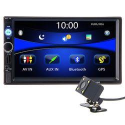 2 din 7 pouce HD Autoradio GPS Navigation Lecteur Caméra Autoradio Bluetooth AUX MP3 MP5 Stéréo FM Audio USB Auto Électronique 7010G