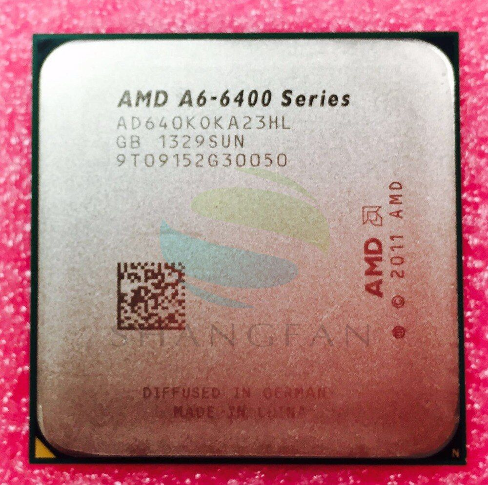 AMD A6 Series A6 6400 A6-6400 A6 6400K A6-6400K 3.9Ghz 65W Dual-Core CPU Processor AD640KOKA23HL Socket FM2