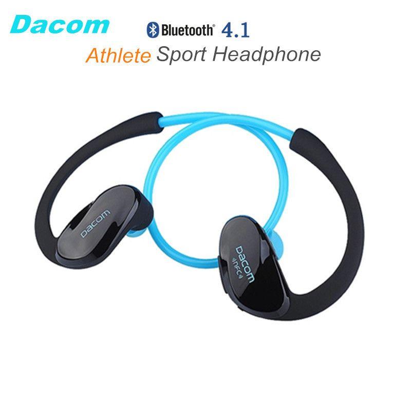 Dacom Sportler NFC Schnurlose Ohrbügel Sport Bluetooth 4,1 hörer Sweatproof Mini Drahtlose Hifi Bass Kopfhörer Mit Mikrofon