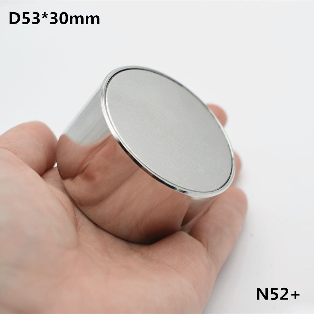 1pcs Neodymium magnet N52 D53x30 Super strong round magnet Rare Earth 53*30mm strongest permanent powerful magnetic steel cup
