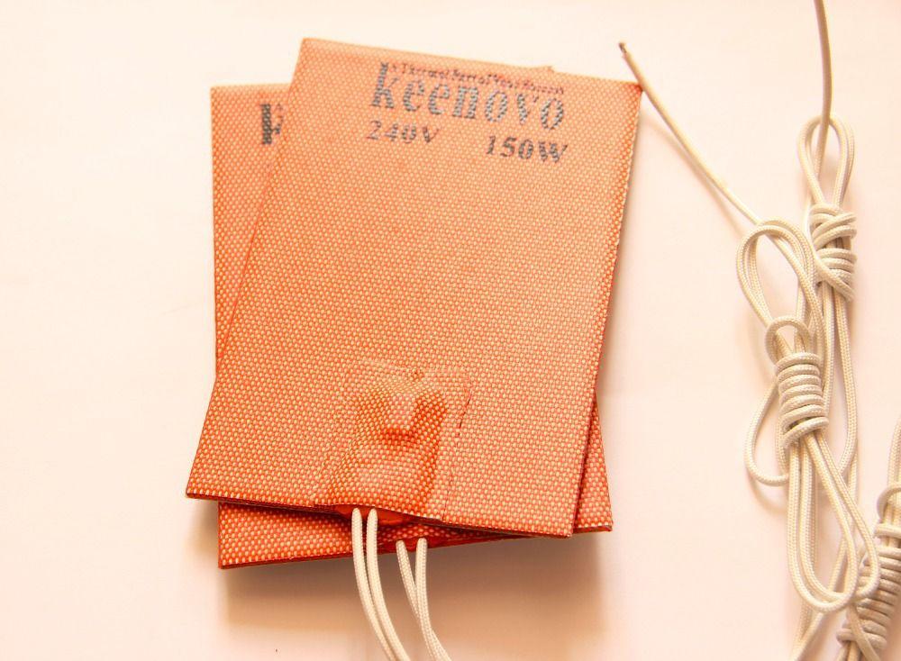 150X100mm, 150W @ 240 V, Keenovo Universelle Flexible En Silicone Chauffe Pad Plaque Moteur Carter D'huile de Chauffage, avec 90C thermostat