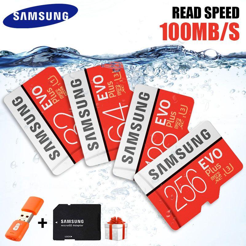 Original SAMSUNG Micro SD Card 32GB 64GB 128GB 265GB Memoria Micro SD High Speed 100MB/S U3 4K 128GB 265GB SDXC Microsd Card